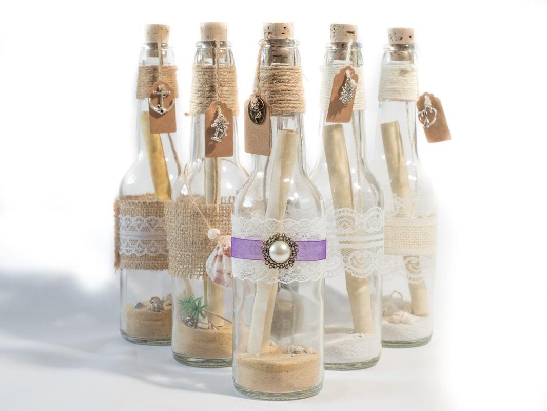 Message in a bottle invitation