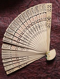 Fan wedding favour