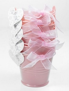 Wedding favour mini bucket
